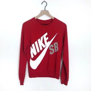 Nike SB Red Crewneck Logo Sweater